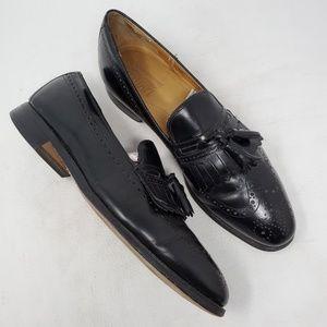 Johnston Murphy Black Leather Loafers sz 11 B/AA
